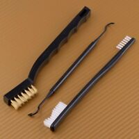 3x Brass Brush & Pick Cleaning Tool For Shotgun Rifle Gun Pistol Handgun Firearm