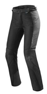 Rev'It Motorcycle Leder-Textilhose Ingition 3 Ladies IN Black Waterproof New