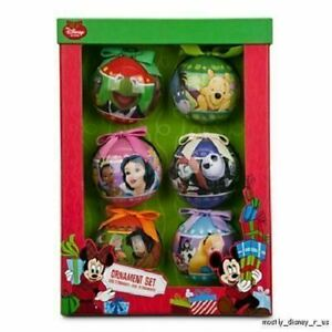 Disney Store 6 Pc Box Ornament Set Muppets Jungle Alice Pooh Princess Nightmare