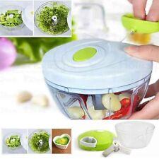 Manual Vegetable Food Chopper Handheld Ginger Slicer Pepper Cutter Kitchen UK