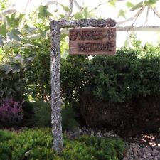 Fairy Garden Sign Fairies Welcome Garden Decor Resin with Post