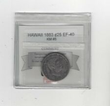 1883  Hawaii, 25 Cents , KM# 5..