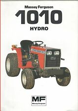 French Original  Prospect  Tracteur Tractor Massey Ferguson MF1010 HYDRO 2 pages