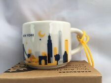 Starbucks New York You Are Here Ornament Espresso Mini Mug Skyline Bridge