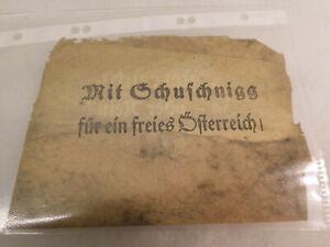 Flugblattpropaganda Österreich Schuschnigg