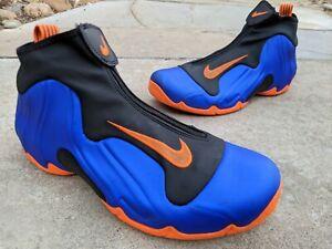 "Nike Air Flightposite ""Knicks/Blue/Orange"" Size 9.5 A09378 401 Penny One Royal"