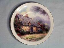 "Thomas Kinkade ~ Painter of Light ~ Moonlight Cottage ~ 6"" Saucer/Plate ~ Nice!"