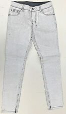Women STUNNING ksubi 'spray on Crack White' Paint Bake Jeans Size 28