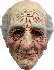 THE PA - OLD MAN DELUXE HEAD MASK WITH HAIR LATEX HALLOWEEN MASK