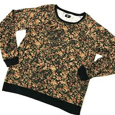 Volcom Floral Cotton & Polyester Long Sleeve Sweat Shirt Sz M