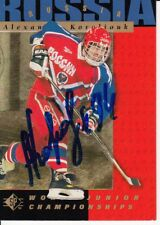 1995 ALEXANDRE KOROLIOUK Russia Autographed Signed Hockey Upper Deck Card 165