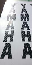 *** Horquillas Calcomanías Yamaha x2 de fibra de carbono mirada ***