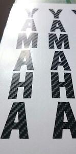 ****yamaha forks decals x2 carbon fibre look****