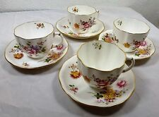 Royal Crown Derby Posies   4 x tea cups and saucers -Excellent condition