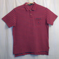 Polo Ralph Lauren Polo Shirt Men's Extra Large XL Red Blue Striped Short Sleeve