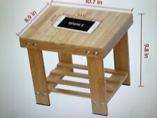 Ipow Multifunctional Small Bamboo Step Stool Seat