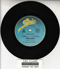 "CHEAP TRICK  The Flame & Through The Night 7""45 record + juke box title strip"