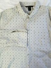 New Marc Jacobs Mouse Gray Men XL Pocket Button Down Shirt