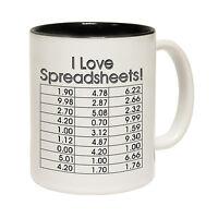 I Love Spreadsheets Tea Novelty Accountant Boss MUG birthday office funny gift