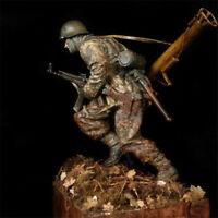 1/16 WWII Panzergrenadier Soldier Resin Kits Figure Unpainted Model GK