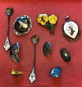 Lot of 10 Mixed Old China Chinese Metal Pins