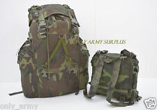 Italian Army Alpine Rucksack Bergen With Frame +Removable Day Sack Mountain 100L