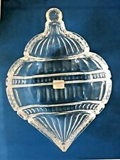 Fitz And Floyd Crystal Christmas Ornament Dish New Open Box