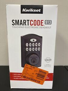 Kwikset 99130-003 SmartCode 913 Bronze Electronic Keypad Deadbolt Door Lock