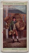 Hand Made Willow Rush  Baskets London Street Peddler 100+ Y/0 Trade Ad Card