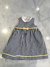 NWOT LULI & ME Girls Blue Striped Sleeveless Dress, 24M