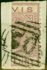More details for nevis 1880 1d lilac-mauve sg23a bisected on piece fine used