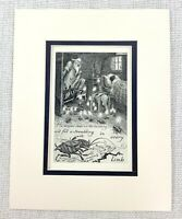 1909 Antique Print Fantasy Art Nightmare Cockroach Bugs Insects Frank C Pape