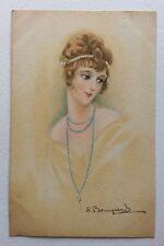 CPA. Illustrateur BOMPARD. Jeune Femme. Art Déco. Coiffure Typique Années 1910.