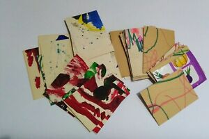 50 BLANK ACEO ATC paper ephemera lot recycled cardstock for making Aceo cards