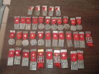 Sammlung 38 Medaillen (Schützen?) S.S.V. - S.S.C. E.F.S. - T.F.C.Schweiz,1946 ff