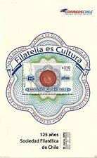 Chile 2014 Brochure 125 años Sociedad Filatelica de Chile