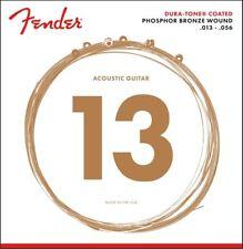 Genuine Fender 860M Phosphor Bronze Dura-tone Coated Strings 13-56