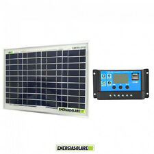 Battery Charging Kit Solar Panel 5W 12V Charger Controller Boat Caravan vehicle