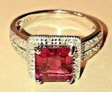 Rubellite Pink Tourmaline & Authentic Diamond RING 14K Gold. $6,375 NWT!