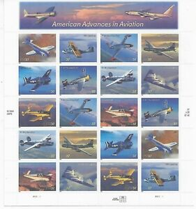 Advances in Aviation - 3925a 2005 37c Commemorative Pane of 20 - Mint NH