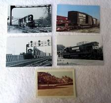 9 OLD RAILROAD TRAIN LOCOMOTIVE PHOTOGRAPHS PICTURES B & O NORFOLK SOUTHERN #d8