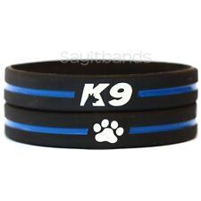 2 of K9 Wristbands - K-9 Bracelets - Thin Blue Line Canine Police Bracelet