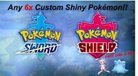 Pokemon Sword and Shield | Custom Team | 6x 6iv Shiny Pokemon | FREE Mew/Ditto!!