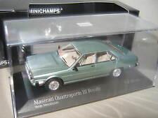 1:43 MASERATI QUATTROPORTE III Royale 1989 verde me Minichamps 437123500 OVP NUOVO