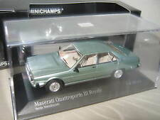1:43 MASERATI Quattroporte III Royale 1989 Verde Me MINICHAMPS 437123500 OVP NEU