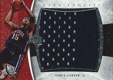 2005-06 UD Exquisite Vince Carter EXTRA EXQUISITE Jumbo Game Worn Jersey #3/25