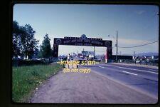 1966 Thunder Bay, Canada, Welcome Gate Sign, Original Slide c18a