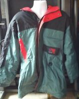 SKYR Water Resistant Green with Red Lining Winter Mens Jacket Coat Size Large