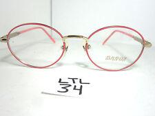 7b59afa5f3b Vtg 1990s BARON Eyeglass Frame Round 705 Pink Gold Women Specs (LTL-34)