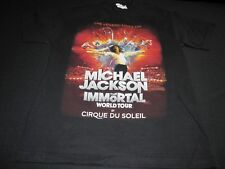 Michael Jackson Immortal World Tour Cirque Du Soleil Black T-Shirt Small ~ 5556